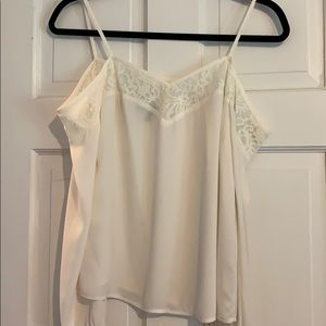 Express off the shoulder white top size XS
